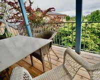 Balkon zu den Gärten